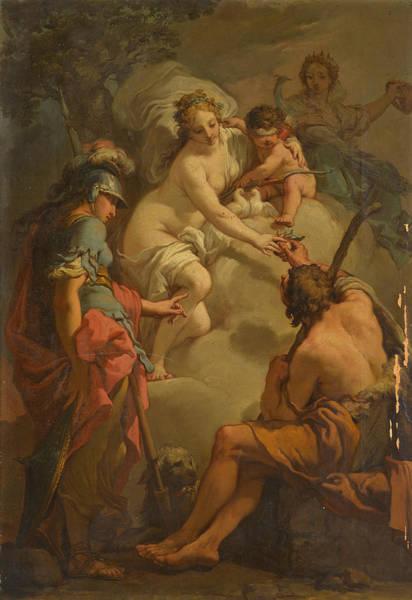 Wall Art - Painting - The Judgement Of Paris by Gaetano Gandolfi