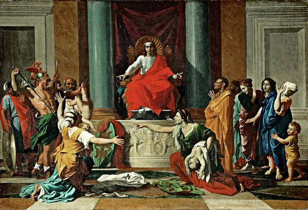 Painting - The Judgement Of Solomon  by Nicolas Poussin