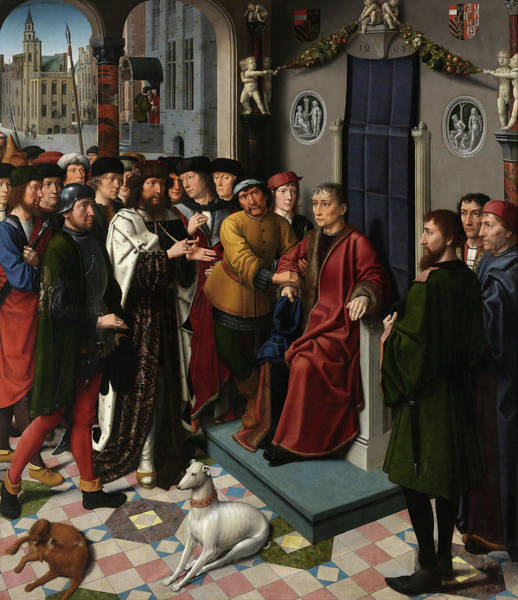 Wall Art - Painting - The Judgment Of Cambyses, Arrest Of Sisamnes by Gerard David