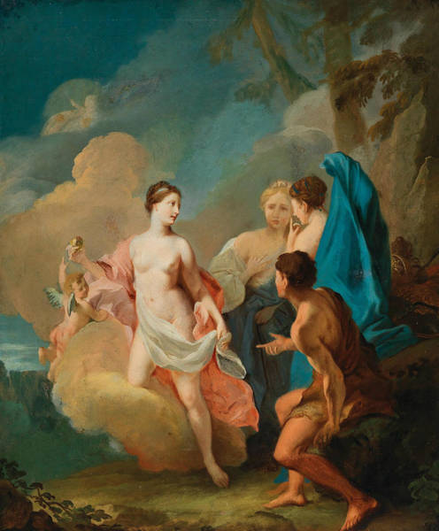 Painting - The Judgment Of Paris by Johann Heinrich Tischbein