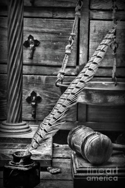 Wall Art - Photograph - The Judicial Brief In Black And White by Paul Ward