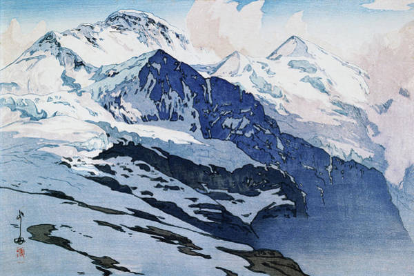 Wall Art - Painting - The Jungfrau Mountain - Digital Remastered Edition by Yoshida Hiroshi