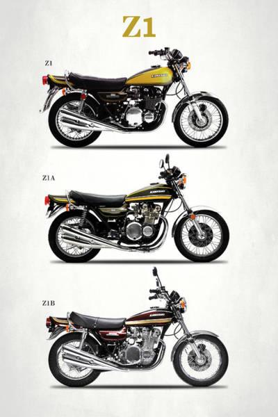 Wall Art - Photograph - The Kawasaki Z1 Collection by Mark Rogan