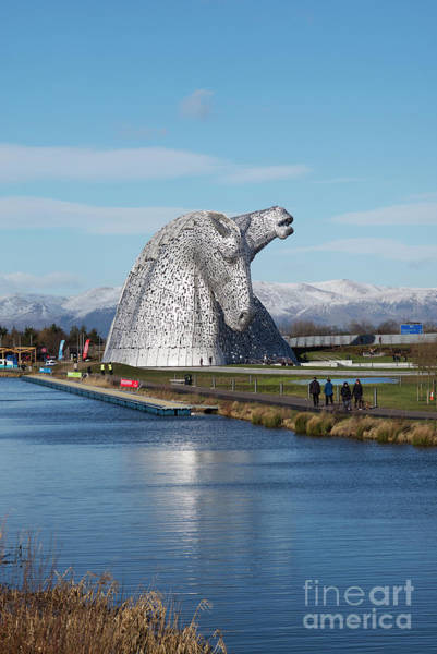 Wall Art - Photograph - The Kelpies Scotland by Tim Gainey