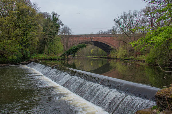 Wall Art - Photograph - The Kelvin River And The Queen Margaret Bridge, Maryhill, Glasgo by Bill Cannon