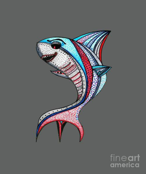 Devilish Drawing - The Killer Fish by Satarupa Banerjee