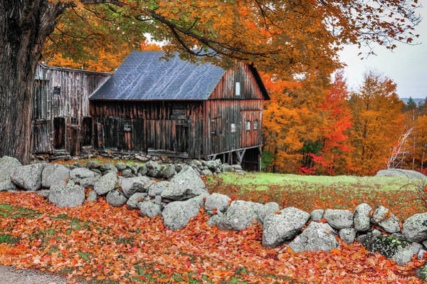 Photograph - The King Street Barn - New Hampshire by T-S Fine Art Landscape Photography