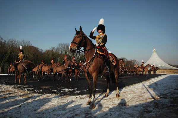 Photograph - The Kings Troop Royal Horse Artillery by Dan Kitwood