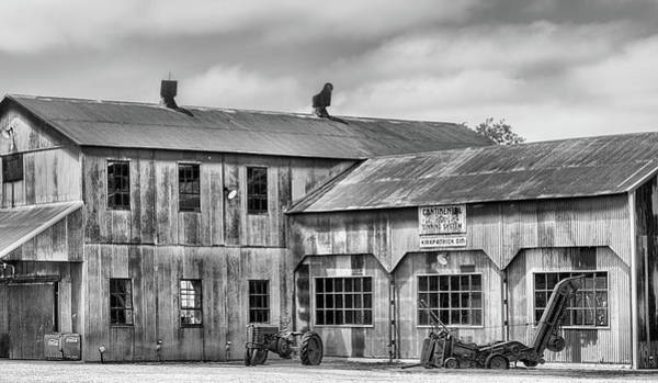Wall Art - Photograph - The Kirkpatrick Cotton Gin Black And White by JC Findley