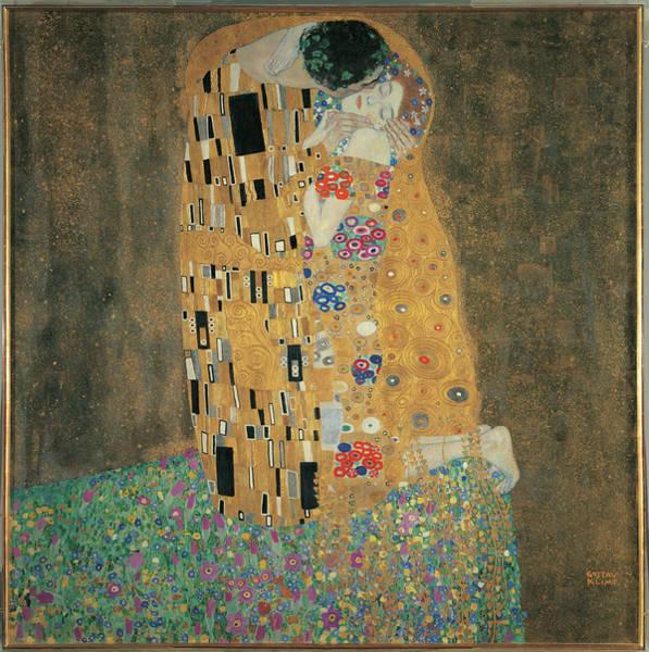 Painting - The Kiss, By Gustav Klimt, 1908 About by Mondadori Portfolio