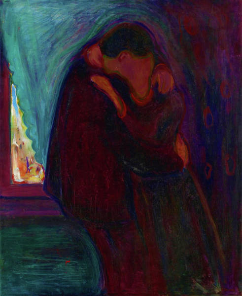 Wall Art - Painting - The Kiss - Digital Remastered Edition by Edvard Munch