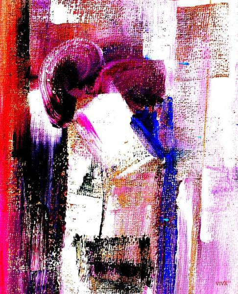 Painting - The Kiss - Maha by VIVA Anderson