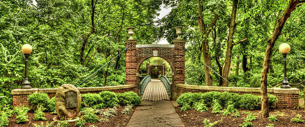 Wall Art - Photograph - The Kissing Bridge At Rutgers University Cook/douglas Campus by Geraldine Scull