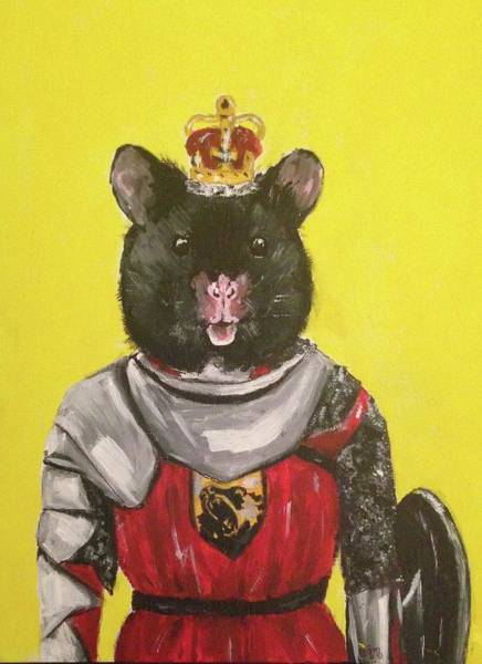 Wall Art - Painting - The Knight by Alicia Mestre