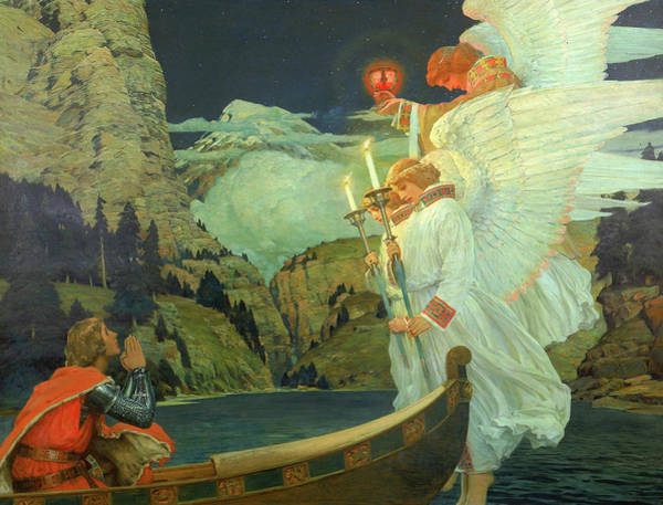 Wall Art - Painting - The Knight Of The Holy Grail by Frederick Judd Waugh