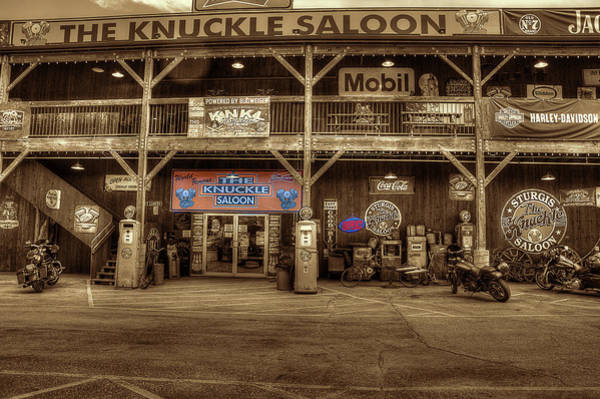 Photograph - The Knuckle Saloon Open by Dan Friend