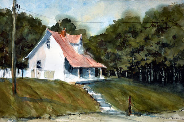 Painting - The L Little White Cottage On Limerick Lane by Charles Rowland