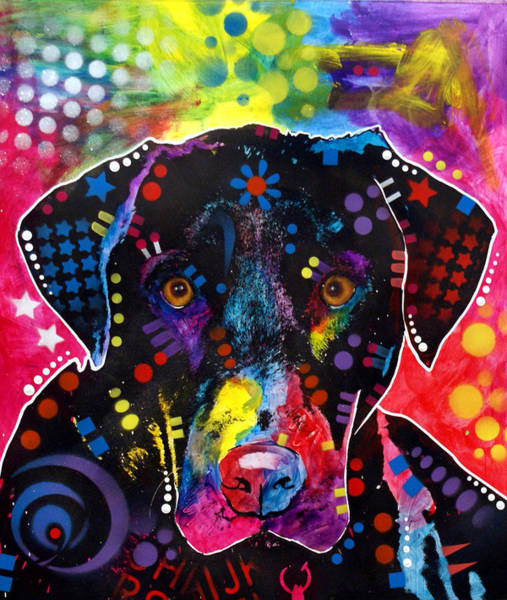 Wall Art - Painting - The Labrador by Dean Russo Art