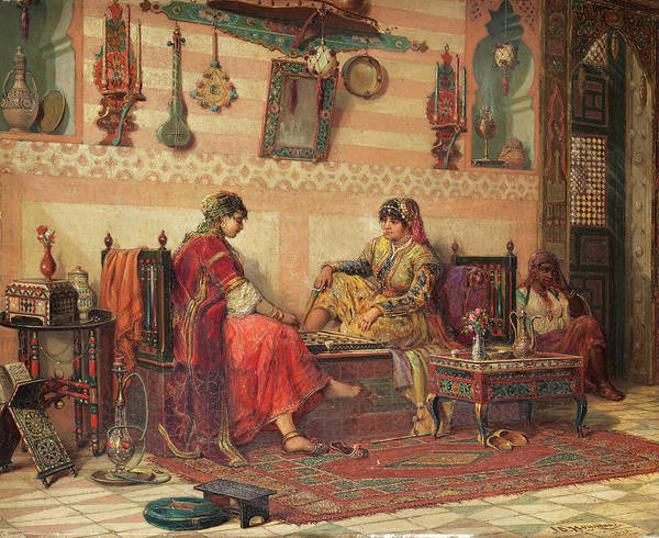 Wall Art - Painting - The Ladies Game by Jan Baptist Huysmans