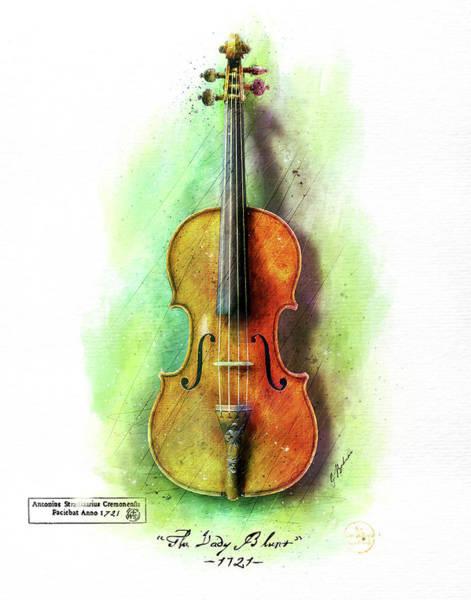 Wall Art - Digital Art - The Lady Blunt Stradivarius V. 1 by Gary Bodnar