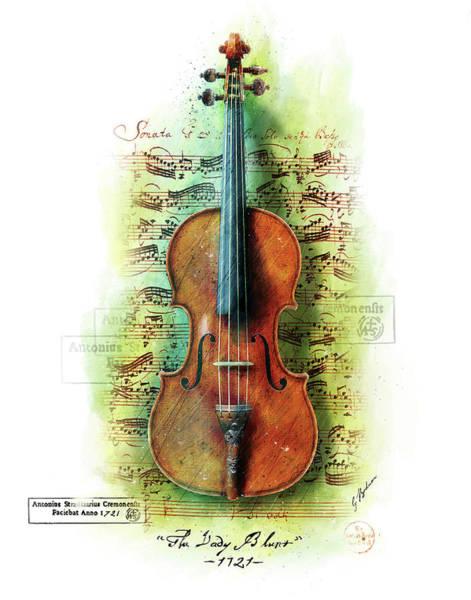 Wall Art - Digital Art - The Lady Blunt Stradivarius V. 2 by Gary Bodnar