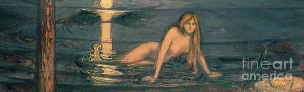Wall Art - Painting - The Lady From The Sea, 1896 by Edvard Munch