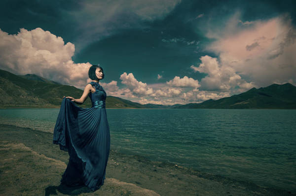 Formalwear Photograph - The Lady Of The Lake by Littleredflowers