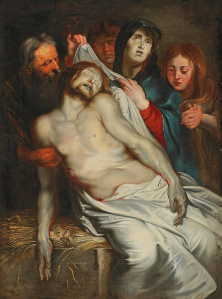 Painting - The Lamentation Of Christ by Circle of Peter Paul Rubens