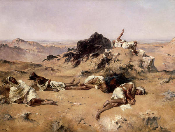 Wall Art - Painting - The Land Of Thirst by Eugene Fromentin