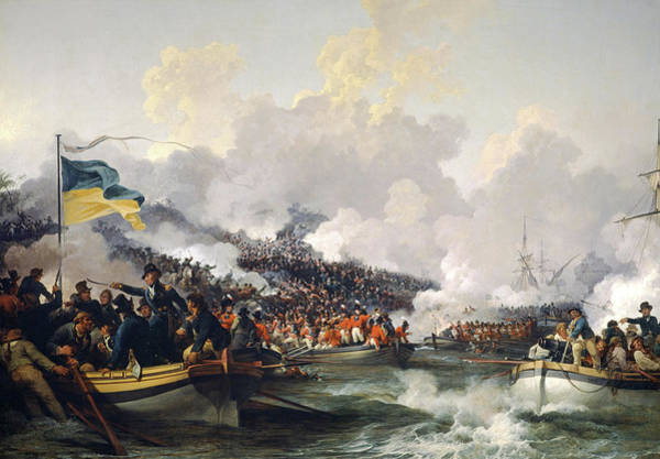Wall Art - Painting - The Landing Of British Troops At Aboukir, 8 March 1801 by Philip James de Loutherbourg