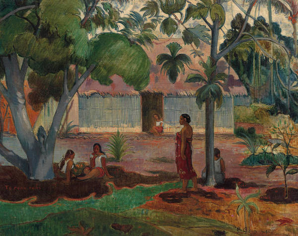Wall Art - Painting - The Large Tree, 1891 by Paul Gauguin