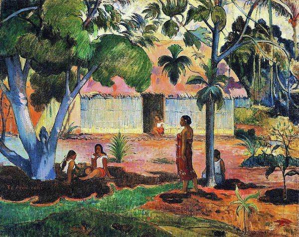 Wall Art - Painting - The Large Tree - Digital Remastered Edition by Paul Gauguin
