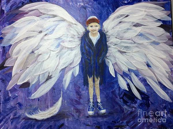 Wall Art - Painting - The Last Baby Feather by Rosie Kuhn