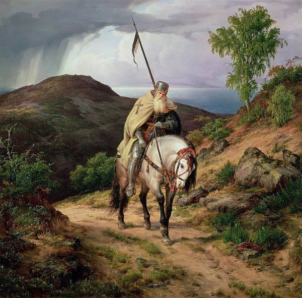 Wall Art - Painting - The Last Crusader by Karl Friedrich Lessing