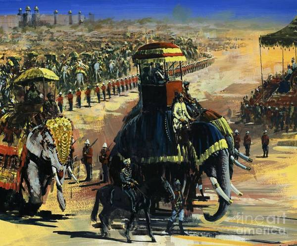 Wall Art - Painting - The Last Great Durbar In June 1911 by Graham Coton