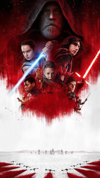 Star Wars Wall Art - Digital Art - The Last Jedi - Teaser Poster  Starwars by Geek N Rock