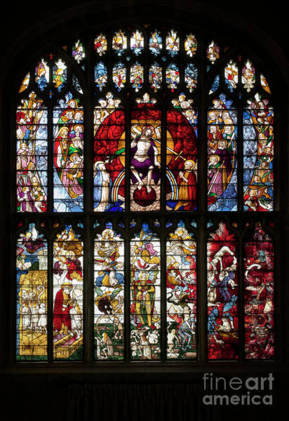 St Michaels Church Photograph - The Last Judgment Window by Tim Gainey