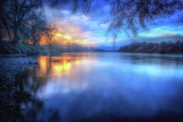 Wall Art - Photograph - The Last Light Sunset On The Sacramento River by Marnie Patchett