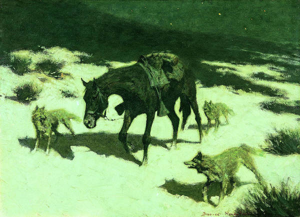 Wall Art - Painting - The Last March, 1906 by Frederic Remington