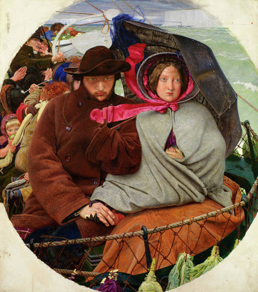 Wall Art - Painting - The Last Of England, 1855 by Ford Madox Brown