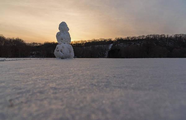 Photograph - The Last Snowman by Kristopher Schoenleber