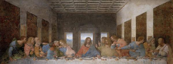 Wall Art - Painting - The Last Supper, 1495-1498 by Leonardo Da Vinci