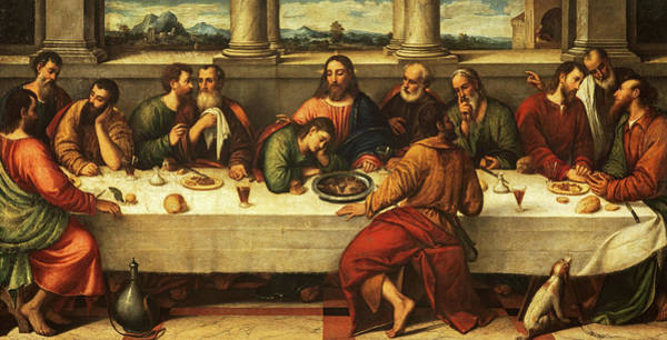 Sacrament Wall Art - Painting - The Last Supper, 1550 by Unknown