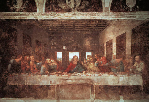 Wall Art - Painting - The Last Supper, 15th Century by Leonardo Da Vinci