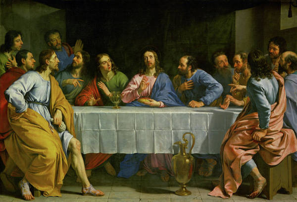 Believers Painting - The Last Supper, 1648 by Philippe de Champaigne