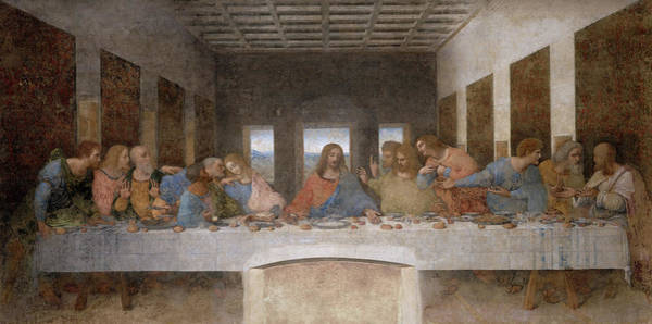 Wall Art - Painting - The Last Supper, Fresco by Leonardo Da Vinci