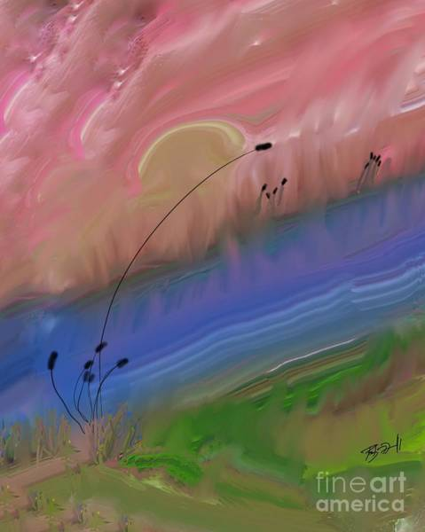 Digital Art - The Lazy River by Rob Mandell