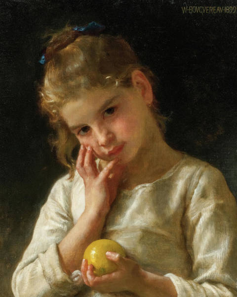 Wall Art - Painting - The Lemon, 19th Century by William-Adolphe Bouguereau