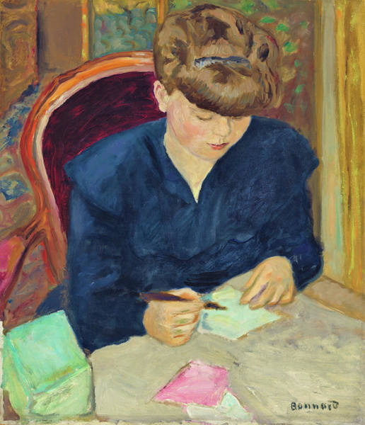 Wall Art - Painting - The Letter - Digital Remastered Edition by Pierre Bonnard