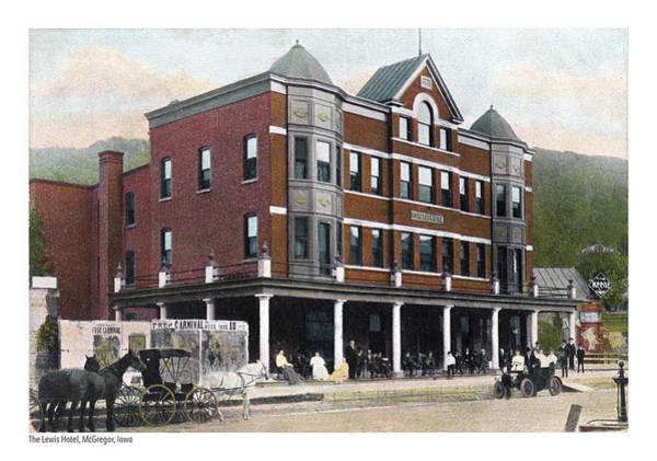 Postcard Photograph - The Lewis Hotel by Greg Joens